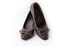 коричневые ботинки стоковая фотография rf