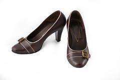 коричневые ботинки стоковое изображение