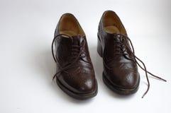 коричневые ботинки Стоковые Фото