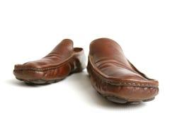 коричневые ботинки Стоковые Изображения
