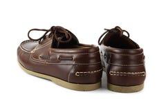 коричневые ботинки Стоковая Фотография