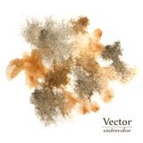 Коричневые вектора абстрактные и черные помарки Темные пятна дизайна чернил Стоковое Фото