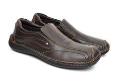 коричневые кожаные ботинки Стоковые Изображения RF