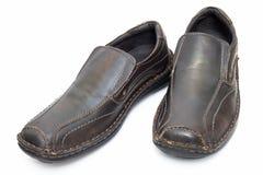 коричневые кожаные ботинки Стоковое Изображение