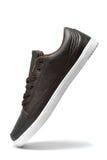 коричневые кожаные ботинки Стоковая Фотография