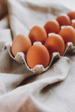 коричневые пасхальные яйца Стоковое Фото