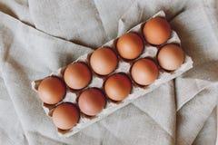 коричневые пасхальные яйца Стоковые Фотографии RF