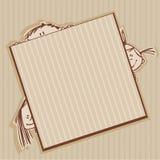коричневые рамки Стоковое фото RF