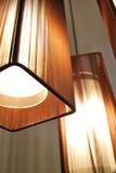 коричневые тени светильников стоковое изображение