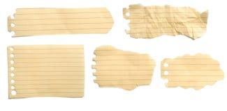 коричневые установленные бумаги сорванными Стоковая Фотография