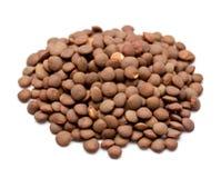коричневые чечевицы стоковая фотография