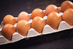 коричневые яичка свежие Стоковые Фото