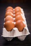 коричневые яичка свежие Стоковое Изображение RF