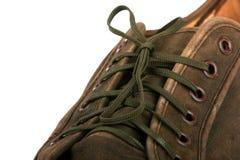 коричневый ботинок Стоковые Изображения