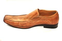 коричневый ботинок Стоковые Фото