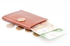 коричневый бумажник дег Стоковое Изображение