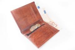 коричневый бумажник дег Стоковые Фото