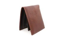 коричневый бумажник на изолированный Стоковая Фотография RF