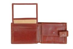 коричневый бумажник Стоковые Изображения