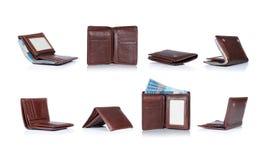 коричневый бумажник Стоковое Изображение