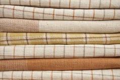 коричневый ворох хлопко-бумажная ткани Стоковое Изображение RF