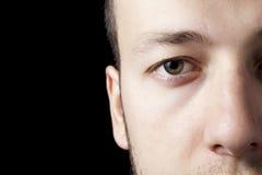 коричневый глаз Стоковые Фото