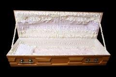 коричневый гроб стоковые фото