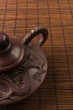 коричневый китайский чайник Стоковые Фотографии RF