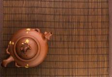 коричневый китайский чайник Стоковые Изображения