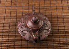 коричневый китайский чайник Стоковое Изображение