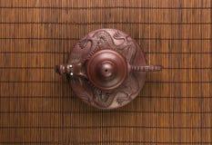 коричневый китайский чайник Стоковое Фото