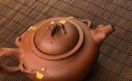 коричневый китайский чайник Стоковая Фотография
