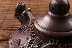 коричневый китайский чайник Стоковое Изображение RF