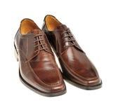 коричневый кожаный ботинок пар Стоковая Фотография RF