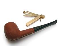 коричневый кожаный табак трубы Стоковое Фото