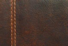 коричневый кожаный шов стоковое фото