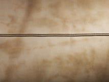 коричневый кожаный шов стоковая фотография