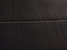 коричневый кожаный шов стоковое изображение rf