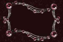 коричневый кристаллический красный цвет Стоковое Фото