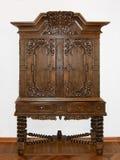 коричневый кухонный шкаф деревянный Стоковые Фотографии RF