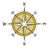 коричневый лимб картушки компаса Стоковые Изображения RF