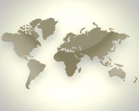 коричневый мир карты Стоковая Фотография