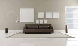 коричневый нутряной minimalist иллюстрация штока