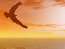 коричневый орел иллюстрация штока