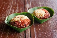 коричневый рис тайский Стоковые Изображения RF