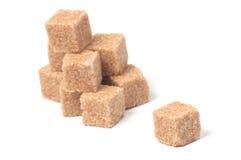 коричневый сахар кубиков Стоковое Фото