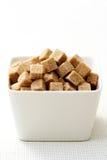 коричневый сахар кубиков Стоковые Фото