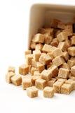 коричневый сахар кубиков Стоковое Изображение