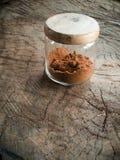 коричневый стеклянный сахар опарника Стоковая Фотография RF