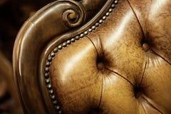 коричневый стул старый Стоковые Фото